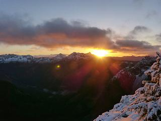 Sunrise over Alta and Hibox
