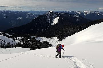 Lookout Mtn in the background (and the avalanche debris field in the center below)