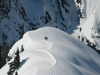 Kyle and Jake heading back up the ridge