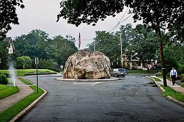 Glen Rock, New Jersey - an erratic town if there ever was one - NG photo