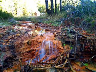 Mineral creek outfall.  Garland Falls.