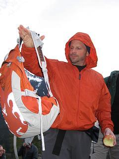 Chris admires Yet's Osprey