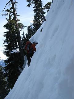 More steep traversing