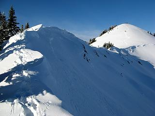 Breccia crest to the summit
