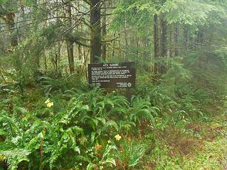 where the trail runs along an FS Road that is seasonally closed