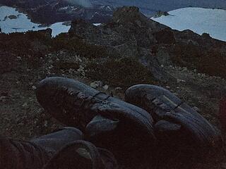 Frosty boots on Kopeetah Divide