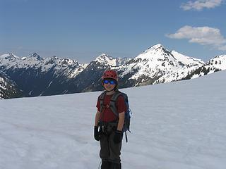Janick at the saddleeon the ridge