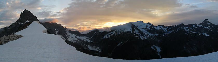 Pickets Sunset Panorama from Camp