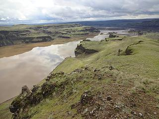 Water has backed up into the channel of the Palouse River since the construction of the Lower Monumental Dam. This area was noted by Lewis and Clark when they passed through here.