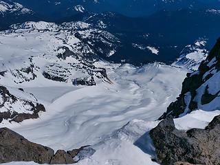 Cowlitz Glacier from Anvil Rock