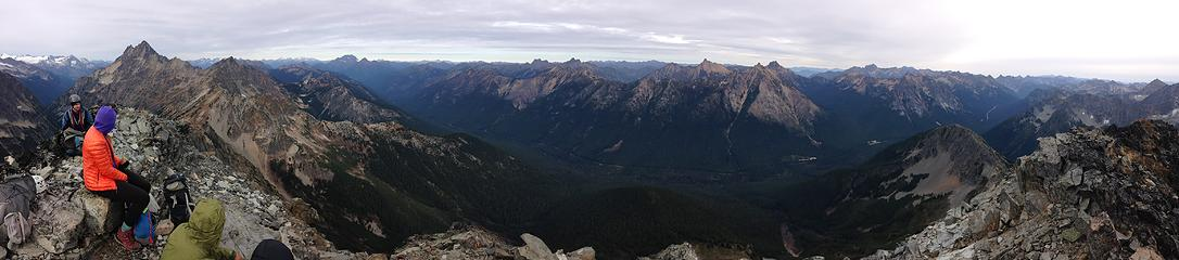 Graybeard summit panorama