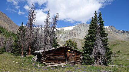 Old cabin at the Meadow Creek Meadow