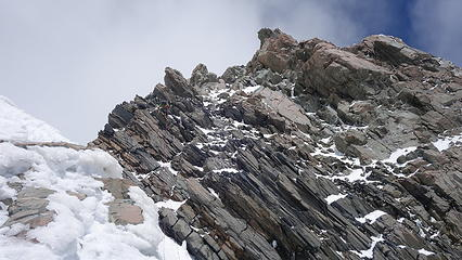 View of the summit rocks