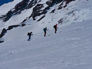 Climbing the Muir Snowfield