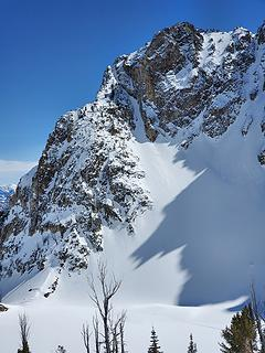 More ski tracks in this couloir
