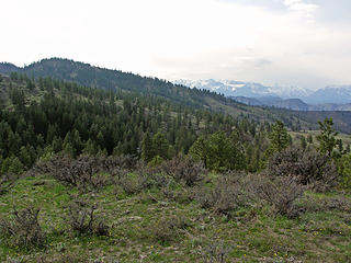Looking back towards Leavenworth across the North ridge plateau and foothills
