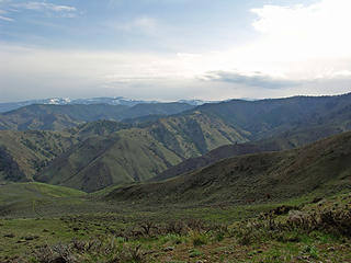 Eastern ridges, canyons, with Mission Ridge in the far background