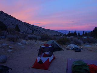 Campground along Bishop Creek