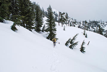 In the snowy basin below Mailbox
