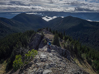 On south ridge of West Peak