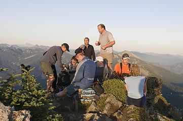 GQ-Hiker-Boy brings out the chardonnay for the summit toast