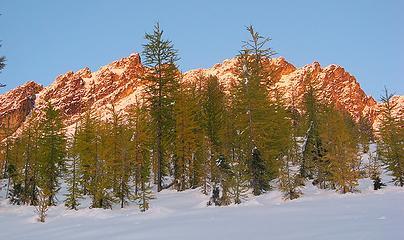 Last Light on the Ridge Above