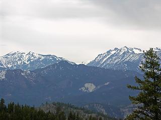 Three Brothers, Ingalls Creek Basin, and part of the Stuart Range