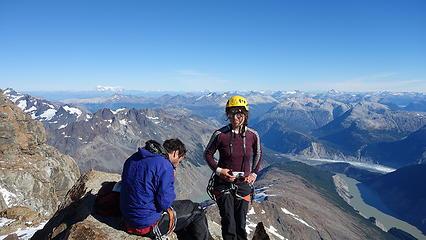 Elaine on the summit of the west peak
