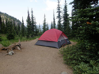 Campsite #2 at Crystal Lake.