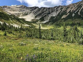Ascending Frosty Pass, Slate Pass, Buckskin Ridge, Frosty Pass, PCT Loop 8/12-8/19/20