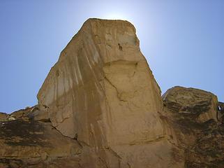 Big rock above