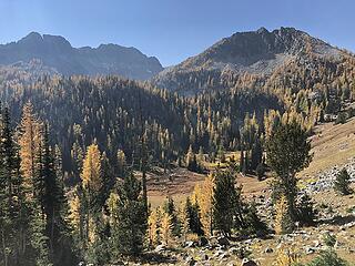 Looking across from trail to Finney Peak