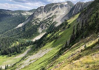 Blizzard Peak from Frosty Pass, Slate Peak, Buckskin Ridge, Frosty Pass Loop 8/12-8/19/20