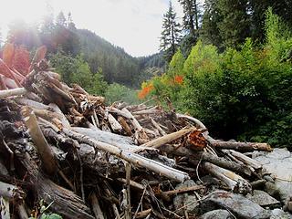 Washout and debris flow