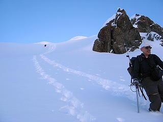 Descending north side of Herman