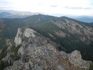 South Peak seen from West Peak summit