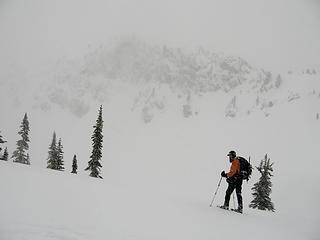 Bob with North Ridge beyond