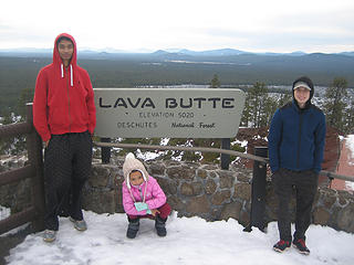 Ryan, Sahale and Jayden at the top