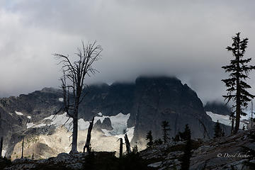 Chimney peak glacier