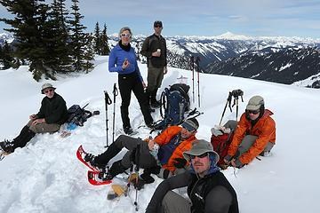Summit group, with Max sitting on the post from the former lookout