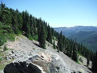 views further up ridge