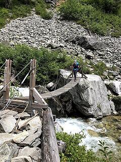 bridge across the good water source