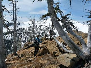 Some brown trail along the ridge