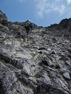 Gary on the Summit Scramble