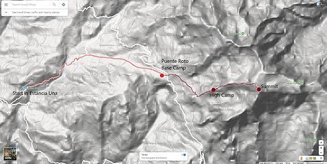 Illimani Route Map