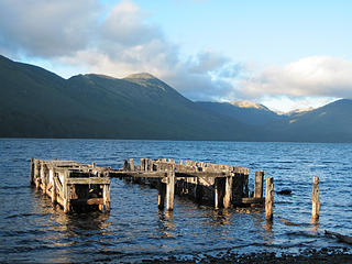 Old dock from an abandoned settlement