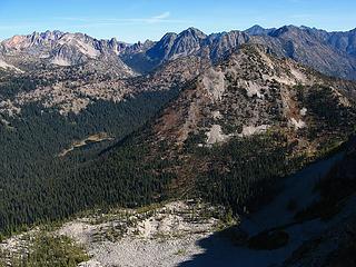 Hock Talus Basin, Dagger Lake & Twisp Mtn