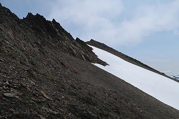 The final slopes to the summit