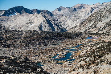 lower dusy basin, lake 10742 in the distance