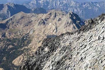 Fortune Peak, Ingalls Peaks, Ingalls Lake from below the false summit